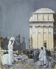 Scene at the World's Columbian Exposition, Chicago | Hassam | Painting Reproduction