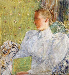 Portrait of Edith Blaney, 1894 by Hassam | Painting Reproduction