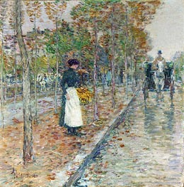 Autumn Boulevard | Hassam | Painting Reproduction