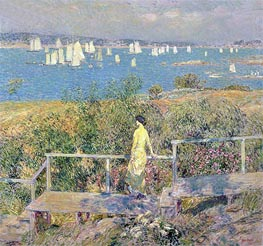 Yachts, Gloucester | Hassam | Painting Reproduction