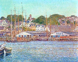 Gloucester Harbour | Hassam | Painting Reproduction