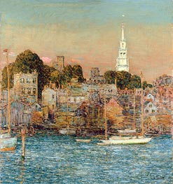 October Sundown, Newport | Hassam | Painting Reproduction