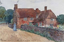 Broadstairs Cottage | Hassam | Gemälde Reproduktion