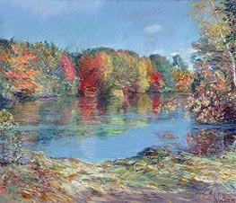 Walden Pond | Hassam | Painting Reproduction