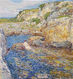 Rockweed Pool, 1902 by Hassam | Painting Reproduction