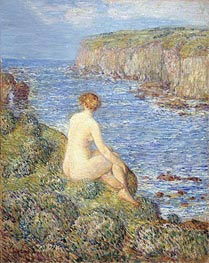 Nymph and Sea | Hassam | Painting Reproduction