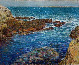 Entrance to the Siren's Grotto, Isle of Shoals | Hassam | Gemälde Reproduktion