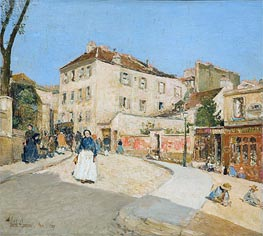 Montmartre, 1889 by Hassam | Painting Reproduction