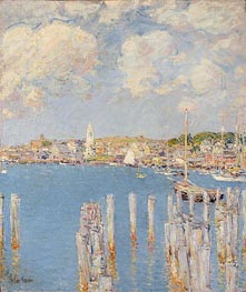 Gloucester Inner Harbor, c.1899 by Hassam | Painting Reproduction