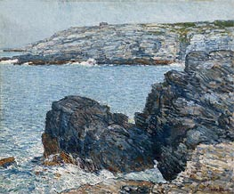 Headlands, 1908 by Hassam | Painting Reproduction