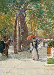 Fifth Avenue at Washington Square, New York, 1891 by Hassam | Painting Reproduction