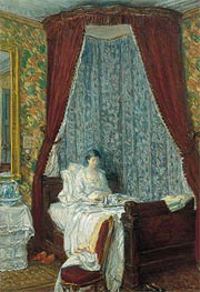 The French Breakfast, 1910 by Hassam | Painting Reproduction