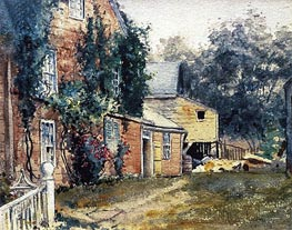 Old House, Nantucket | Hassam | Painting Reproduction