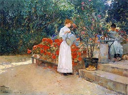 After Breakfast, 1887 by Hassam | Painting Reproduction