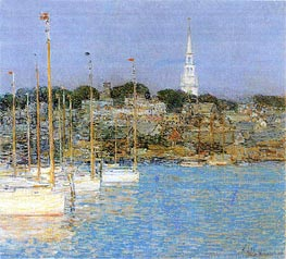 Cat Boats, Newport | Hassam | Painting Reproduction