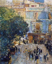 Square at Sevilla, 1910 by Hassam | Painting Reproduction
