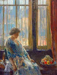 The New York Window, 1912 by Hassam | Painting Reproduction