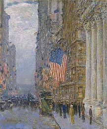 Flags on the Waldorf, 1916 by Hassam | Painting Reproduction