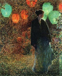 July Night, 1898 by Hassam | Painting Reproduction