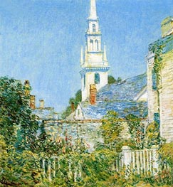 White Church at Newport, 1901 by Hassam | Painting Reproduction