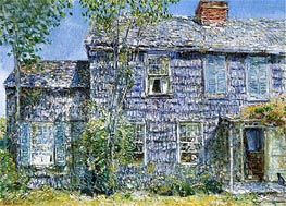 East Hampton (Old Mumford House), 1919 by Hassam | Painting Reproduction