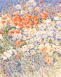 The Island Garden | Hassam | Painting Reproduction