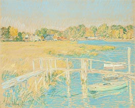 Up the River, Late Afternoon, October | Hassam | Painting Reproduction