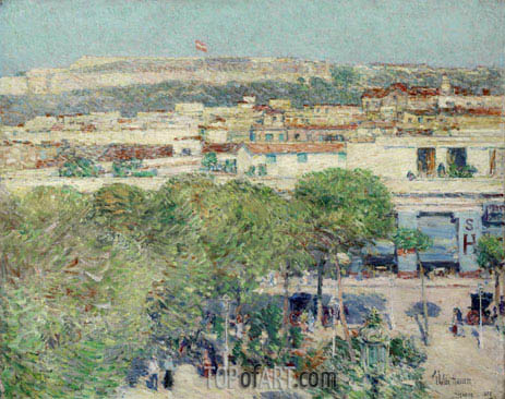 Place Centrale and Fort Cabanas, Havana, 1895 | Hassam | Painting Reproduction