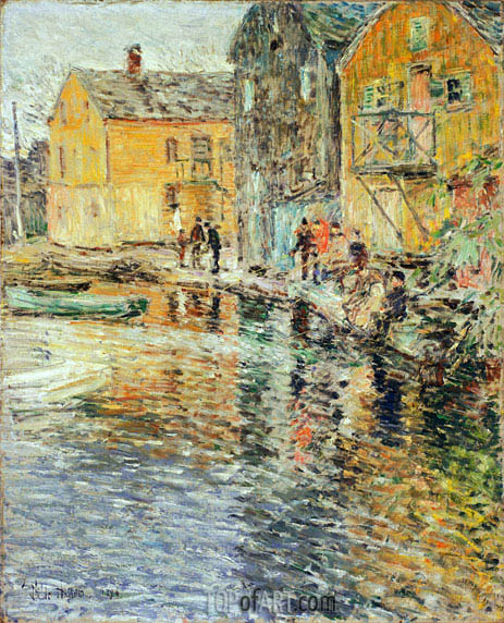 The Smelt Fishers, Cos Cob, 1896 | Hassam | Painting Reproduction