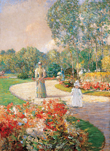Parc Monceau, Paris, 1897 | Hassam | Painting Reproduction