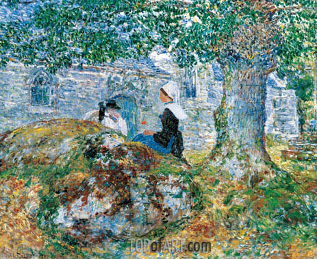 In Brittany, 1897 | Hassam | Painting Reproduction