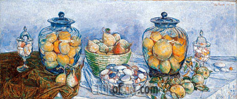 Long Island Pebbles and Fruit, 1931 | Hassam | Painting Reproduction
