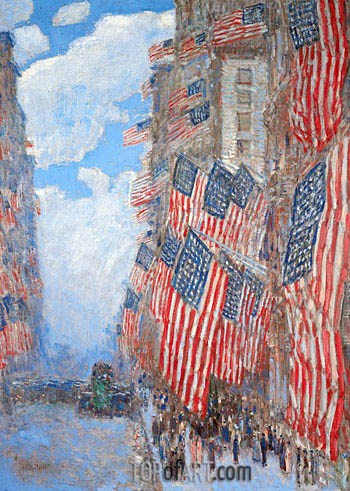 The Fourth of July, 1916, 1916 | Hassam | Gemälde Reproduktion
