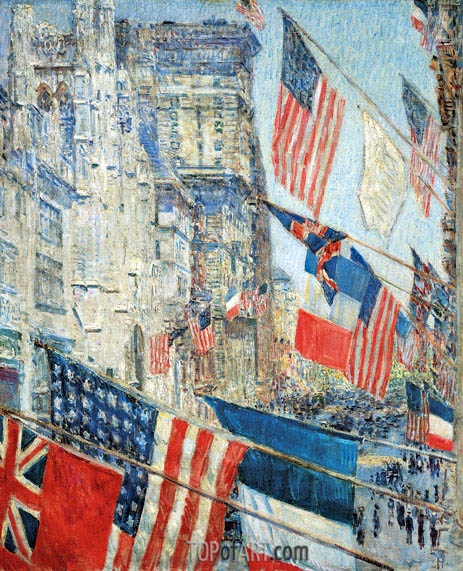 Allies Day, May 1917, 1917 | Hassam | Gemälde Reproduktion