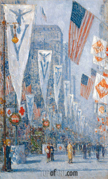 Victory Day, May 1919, 1919 | Hassam | Painting Reproduction