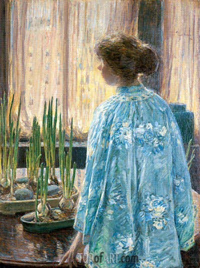 The Table Garden, 1910 | Hassam | Painting Reproduction