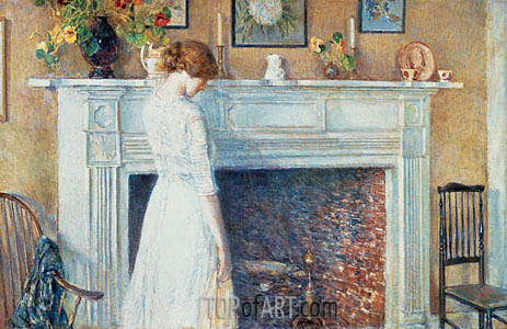 In the Old House, 1914 | Hassam | Gemälde Reproduktion