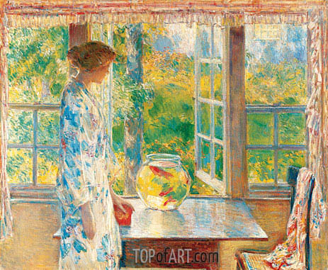 Bowl of Goldfish, 1912 | Hassam | Gemälde Reproduktion