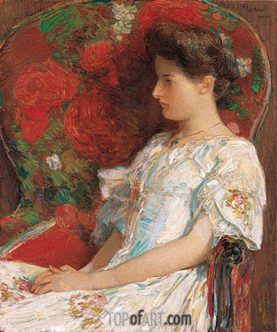The Victorian Chair, 1906 | Hassam | Gemälde Reproduktion