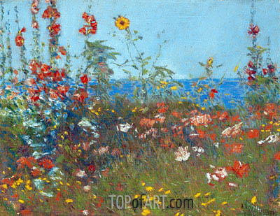 Poppies, Isles of Shoals, c.1890 | Hassam | Gemälde Reproduktion