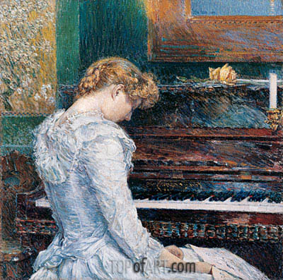 The Sonata, 1893 | Hassam | Painting Reproduction