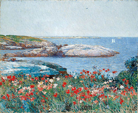 Poppies, Isles of Shoals, 1891 | Hassam | Painting Reproduction