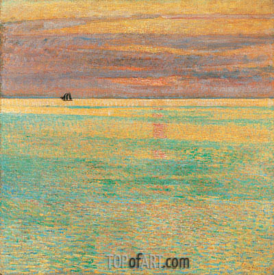 Sunset at Sea, 1911 | Hassam | Painting Reproduction