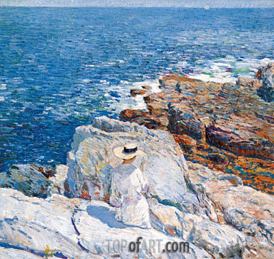 The South Ledges, Appledore, 1913 | Hassam | Painting Reproduction