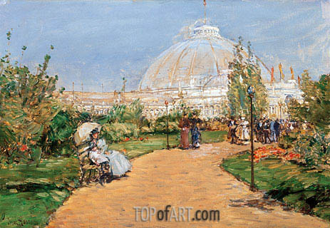 Horticulture Building, World's Columbian Exposition, Chicago, 1983 | Hassam | Painting Reproduction
