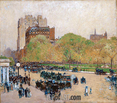 Spring Morning in the Heart of the City, 1890 | Hassam | Painting Reproduction