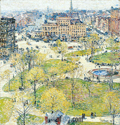 Union Square in Spring, 1896 | Hassam | Painting Reproduction