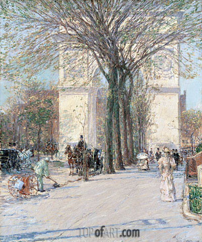 Washington Arch, Spring, c.1893 | Hassam | Painting Reproduction
