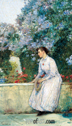 In the Garden, c.1888/89 | Hassam | Painting Reproduction