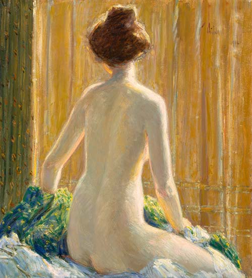 Nude Seated, 1912 | Hassam | Painting Reproduction
